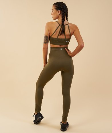 Brassière ENERGY SEAMLESS SPORTS BRA Khaki - 36€