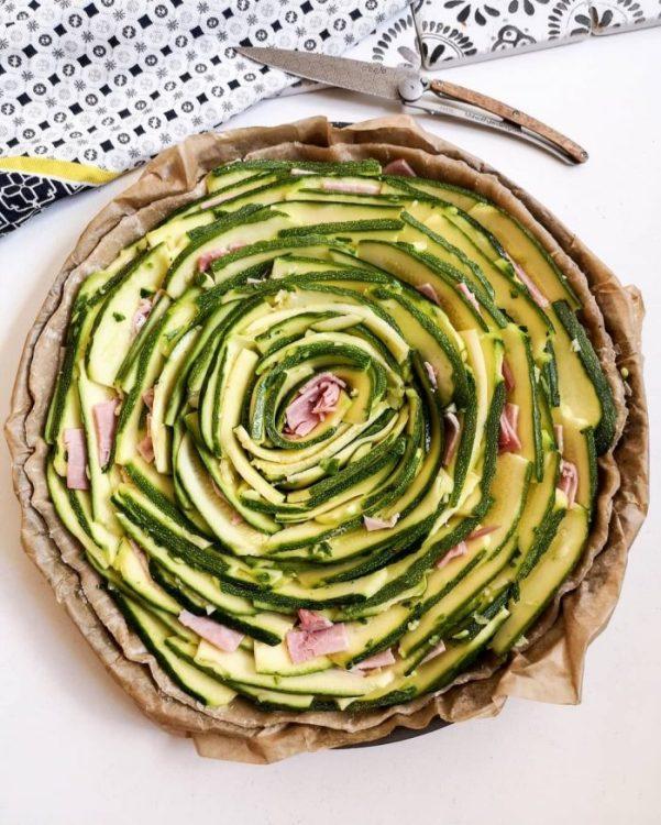 Tarte Spirale Courgettes Jambon Chèvre - Recette Mahealthytendency.com