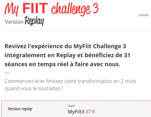 My fiit challenge 3 - Replay - Ma Healthy Tendency