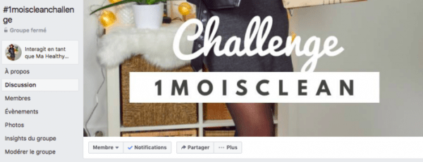 1moiscleanchallenge - Groupe Facebook Privé - Mahealthytendency