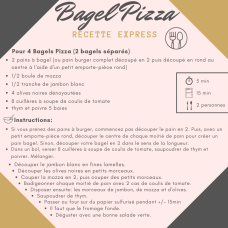Recette Express Bagel Pizza Mahealthytendency
