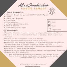 Recette Express Mini Sandwiches Mahealthytendency