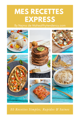 Mes Recettes Express -Pack 7 Ebooks - Mahealthytendency.com
