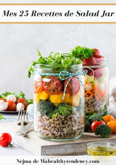 couverture mes 25 recettes de salad jar