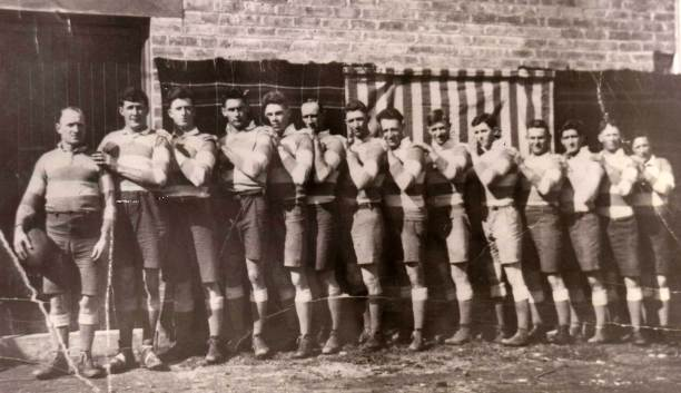 Another 1926 Cootamundra side: From left - Captain-coach Phil Regan, Clem Robinson, Jack Kingston, Gordon Hinton, Aub Harris, George Purcell, Reg Large, Eric Weissel, Ray Sheedy, Jack Watson, Fred Hayward, Clarrie Joyce, Bob Tyrell, Curtis 'Dick' Pellow.
