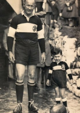 West Wyalong's Bill Brogan with his son Terry (who also played Maher Cup)