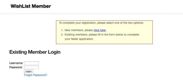 Existing Member Login
