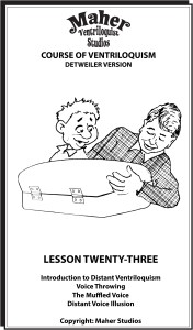 Maher Course of Ventriloquism Lesson 23