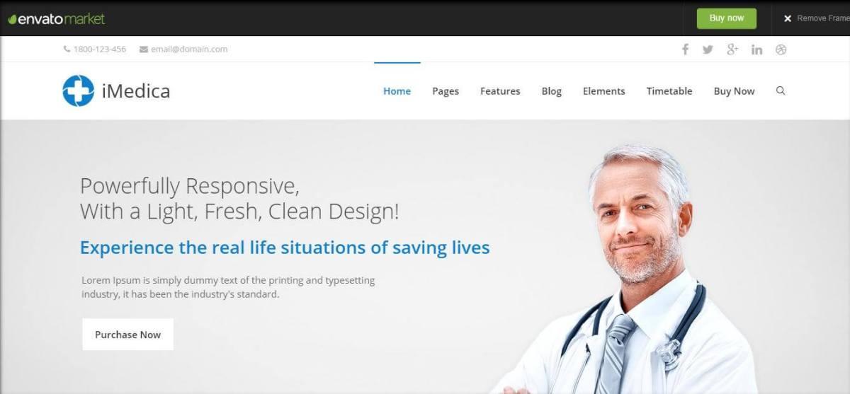 iMedica – Responsive Medical & Health WP Theme