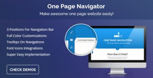 One Page Navigator for Visual Composer