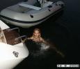 Första doppet i Medelhavet, kallt!