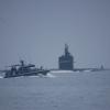 """En """"liten"""" ubåt glider förbi Mahimahi"""