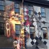Häftig väggmålning
