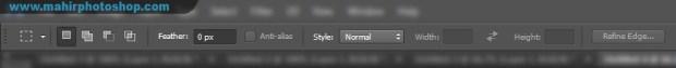 Option Bar pada ruang kerja Adobe Photoshop