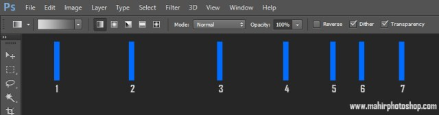 Option Bar Gradient Tool
