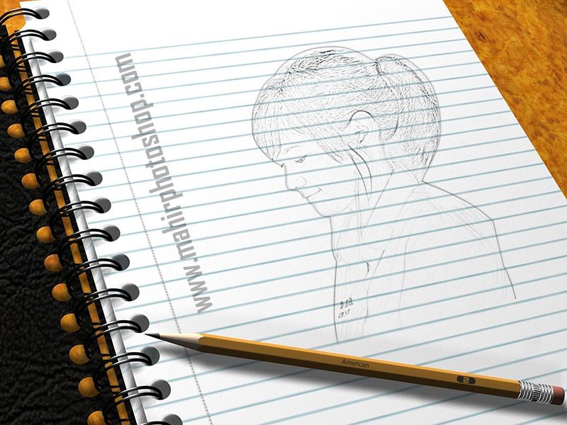 Cara Membuat Foto Seperti Sketsa Pensil Mahir Photoshop