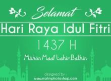 Desain Ucapan Idul Fitri