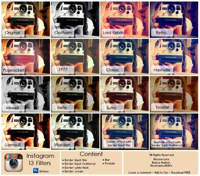13 Filter Instagram by friabrisa