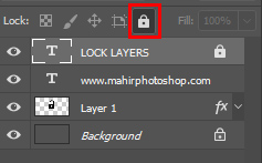 mengunci layer photoshop