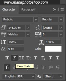 panel character (Italic)