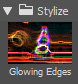 Filter Stylize Glowing Edges