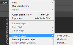 New Fill Layer