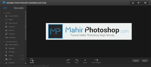 Edit Foto Gratis di Photoshop Online