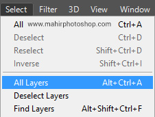 Select All Layer Photoshop
