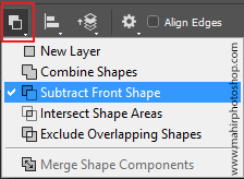 Substract Front Shapes