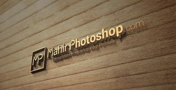 mockup logo 3D Photoshop