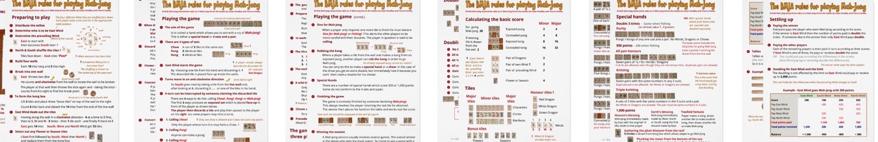 image relating to Mahjong Rules Printable identify An illustrated description of Mah-Jong (BMJA suggestions)
