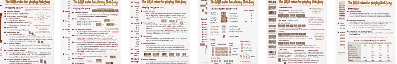 photograph regarding Mahjong Rules Printable identify An illustrated description of Mah-Jong (BMJA tips)