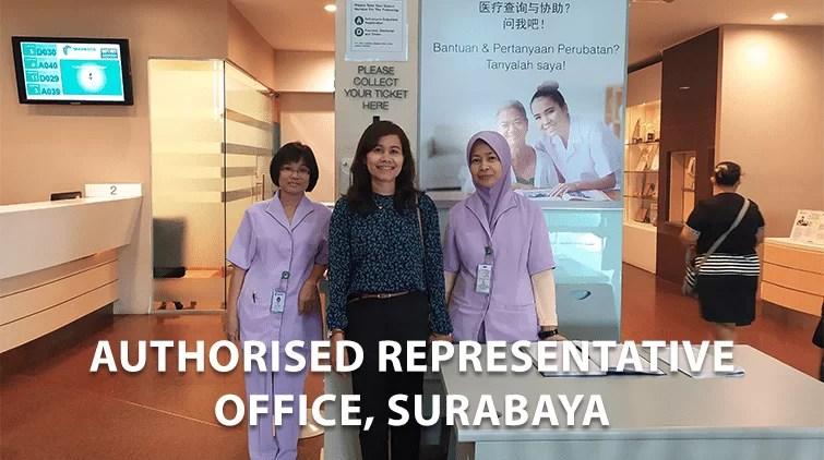 perwakilan rumah sakit mahkota medical centre malaysia di surabaya