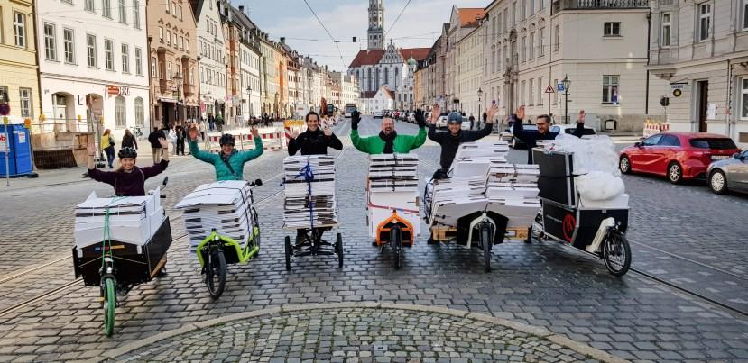 Lastenräder in ökumenischer Mission (Bild: Lothar Roser)