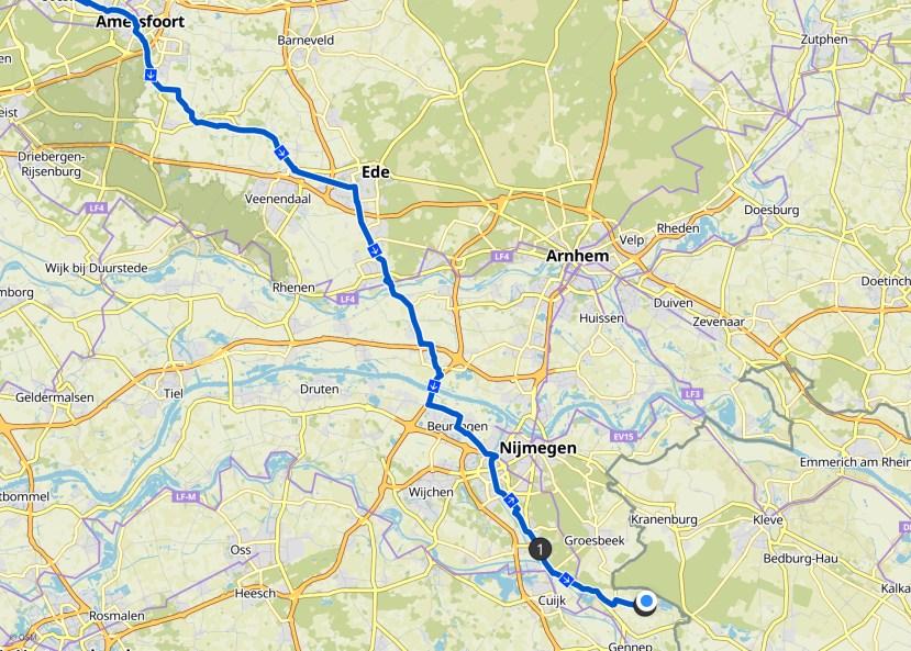 Über Ede weiter Richtung Nijmegen