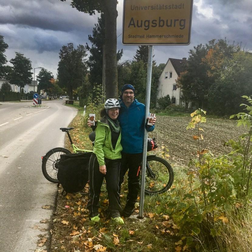 Am Ziel nach 820 Kilometern