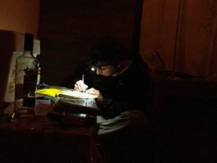 Steve Poe taking field notes - Coapilla, Mexico