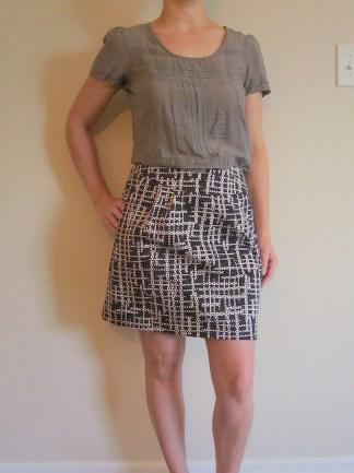 Orange Zip skirt