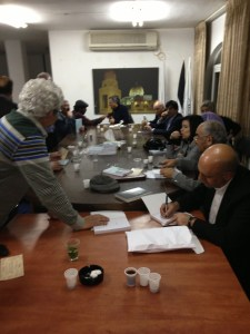 Signing the novel in Ramallah