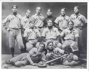 68-1 Rayen Baseball 1901 Billy Evans 2nd row center fielder shrunk