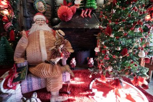 Memories of Christmas Past Santa & Fireplace