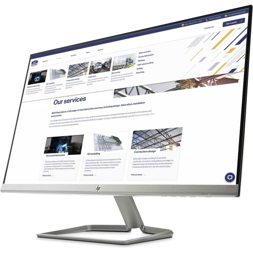 MAH Steel, steel fabrication, steel fabricator, new website, south east England
