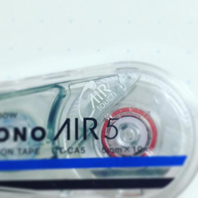 この軽さは初体験。「修正テープ MONO AIR(モノエアー)」
