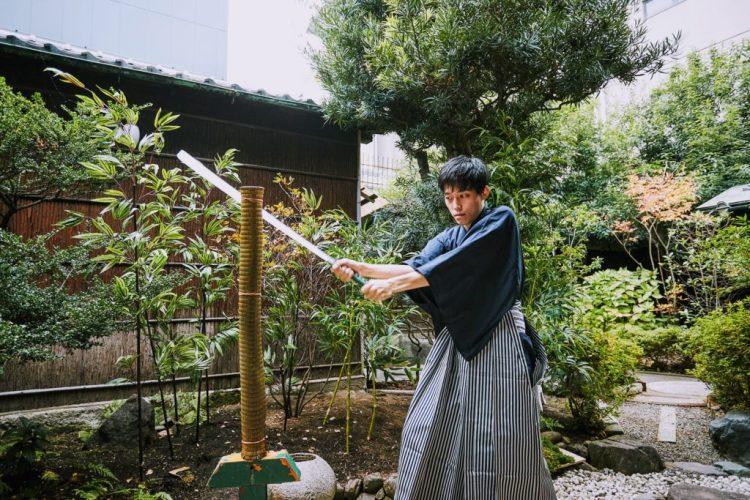 Kyoto sword cutting experience tameshigiri