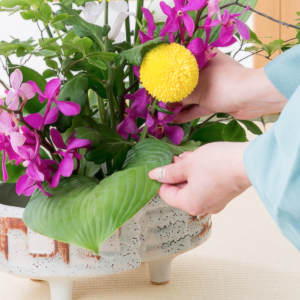 Ikebana flower experience