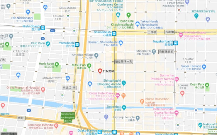 11747391 Vintage Store Map