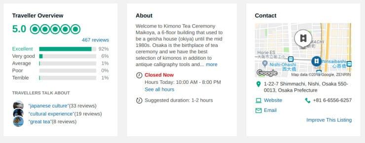Maikoya Experience Kyoto 5 Star Rated