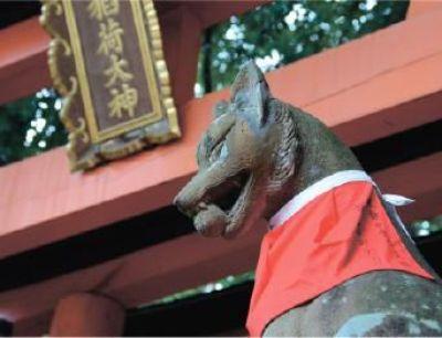 Fox statues