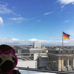on top of the Reichstag building 1