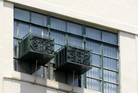 "All aircon boxes had the same metalworks bearing ""B"" in the Burke Building"